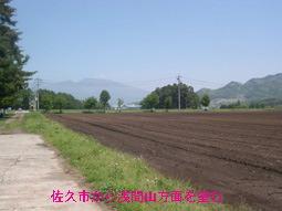 佐久市から浅間山方面を望む