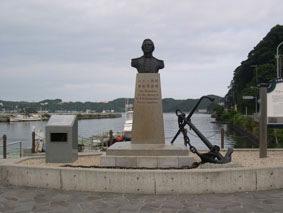 ペリー上陸の地に建つ記念碑