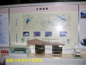 葛野川ダム発電所水路概要